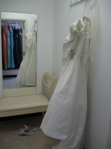 Elegáns menyasszonyi ruha